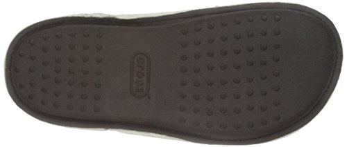 CROCS Chaussures - CLASSIC PLAID SLIPPER - black oatmeal Noir/Farine davoine