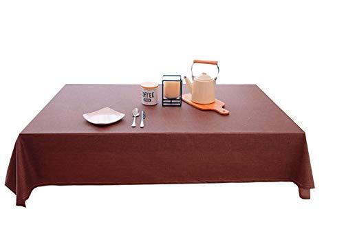 H-Min Wasserdicht Abwaschbar Leinen Tischdecke Schmutzabweisend Pflegeleicht Abwaschbar Tischtuch...