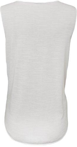 WearAll - 'Act Like A lady Think Like A Boss' imprimé débardeur top - Hauts - Femmes - Tailles 36 à 42 Blanc