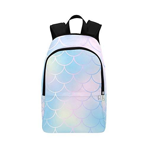 (Meerjungfrau Haut Fischschuppe Blass Lässig Daypack Reisetasche College School Rucksack Für Herren und Frauen)