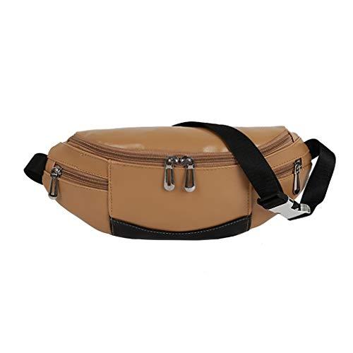 Herren Damen Messenger Duffle Bag Hüfttasche Paare Studenten Outdoor Gürteltasche Mode Sport Punk Hip Hop Multifunktionstaschen Canvas Tasche Brusttasche Diagonale Paket Umhängetasche Modely (Khaki)