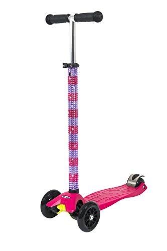 Maxi Micro T-Bar-Roller pink (Streifen) (Maxi Micro Scooter Pink)