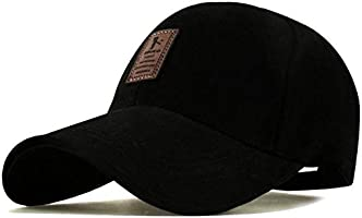 SHVAS Cotton Baseball Adjustable EDIKO Cap for Men/Women Unisex Baseball Cap [EDIKOBLACKSPO]