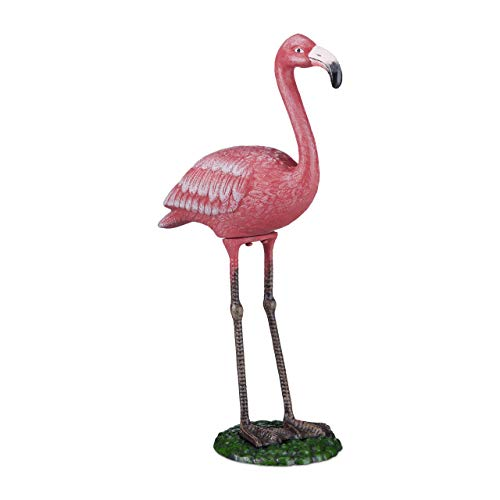 Relaxdays Figure Decoration Garden, Pink, L