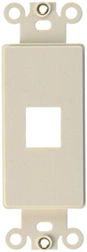 Preisvergleich Produktbild Morris 88122 Decorative DataComm Frame for Keystone Jack and Modular Inserts, 1 Ports, Almond by Morris