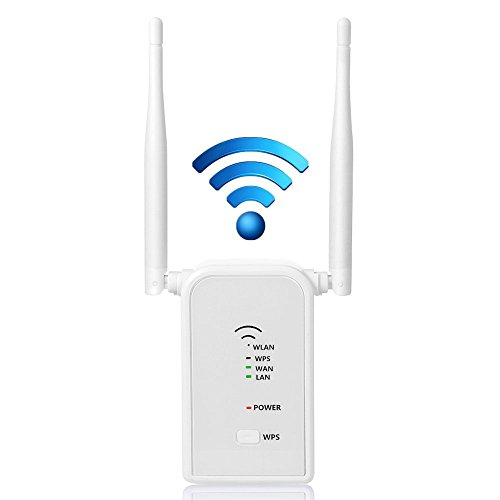 Aigital WLAN Router Repeater Wi-Fi Verstärker Network Extender Signal Booster 2.4GHz mit WPS Funktion Willigt IEEE802.11ac/b/g/n(300 Mbps)
