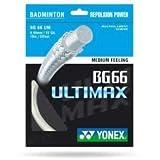 Yonex BG-66 Ultimax Saiten für Badmintonschläger, 10m Weiß weiß