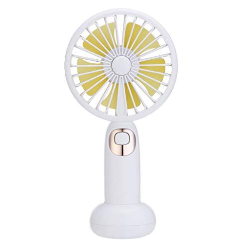 Deloito Mini Tragbarer Lüfter USB Wiederaufladbar Handventilator Süßes Blühen Bluetooth Audiofächer Musik Ventilator für den Zuhause, Büro und Zimmer (Weiß) -