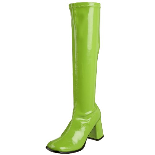 Pleaser Gogo300/yl, Damen Stiefel, Green (Lime), 42 EU (Halloween-kostüme Green Lime)