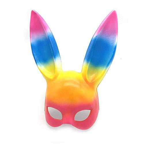 WYDM Farbmaskerade-Häschenohrmaske-Häschenmaske Halloween-Häschenmaske (Farbe : Colored)