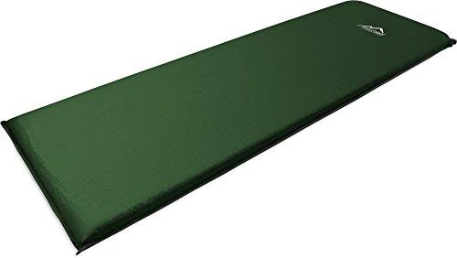 normani Camping Thermo Matte selbstaufblasend - gute Isolierung und Polsterung Farbe Oliv Größe 193 x 61 x 5 cm