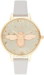 Olivia Burton Womens Quartz Watch, Analog Display and Leather Strap OB16GD37
