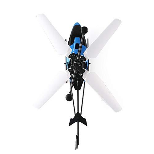 SQSAY Neue Fliegende Mini rc infrarot induktions Hubschrauber Flugzeug Fernbedienung Blinklicht Spielzeug für Kinder und Erwachsene (blau/grün),Blue