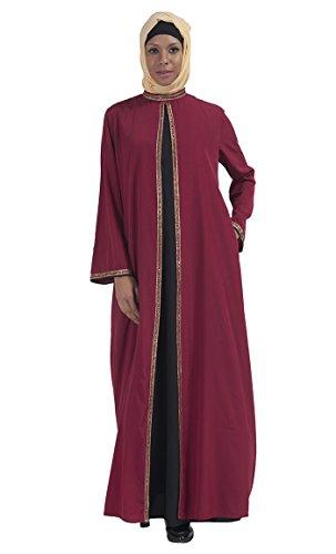 East Essence - Robe - Solid - Manches Longues - Femme Rouge - Bordeaux
