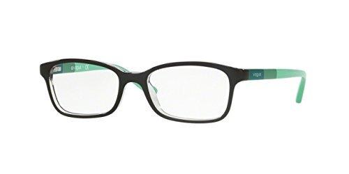 Vogue VO5070 Eyeglass Frames W827-48 - Top Black/Transparent VO5070-W827-48