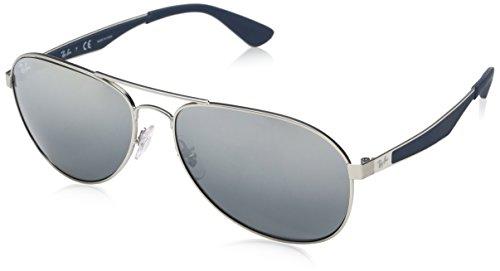 Preisvergleich Produktbild RAYBAN Unisex-Erwachsene Sonnenbrille RB3549,  Grau (Matte Gunmetal / Mirrorgradientgrey),  61
