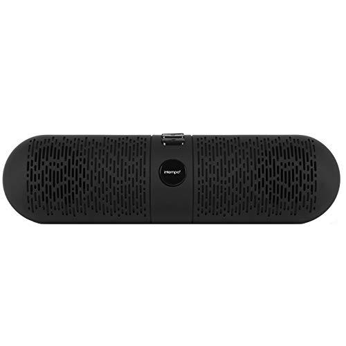 Intempo EE2763BLKSTKEU Bluetooth-Lautsprecher, Bass-Bluetooth, 23 x 9,1 x 9 cm, Schwarz