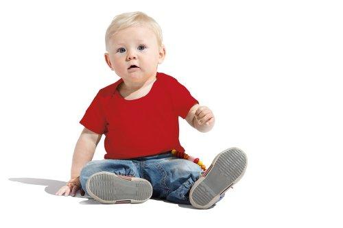 Baumwoll Baby T-Shirt Fire Red