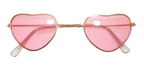 Fancy Dress Accessory Heart Shaped Hippy Specs