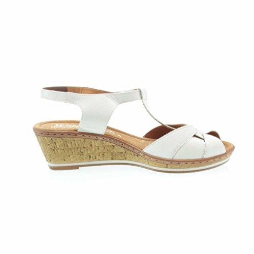 Jenny 2256767-09, Sandales Femme Blanc