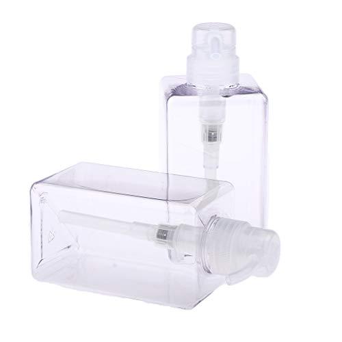 Lotion-spender-flasche (T TOOYFUL 2Pcs Transparente Schaumseifenspender Reiseflaschen Pumpe Lotion Spender Flasche - klar, 450 ml)