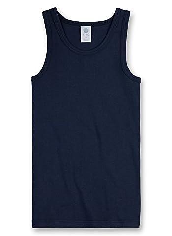 Sanetta Jungen Unterhemd 300000 Blau (Neptun 50226), 140