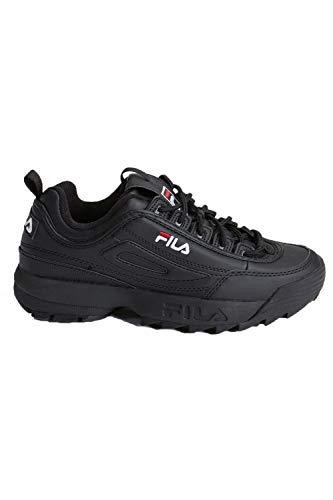 Fila Disruptor 2 Premium Mujeres Zapatillas Black White Red - 38.5 EU
