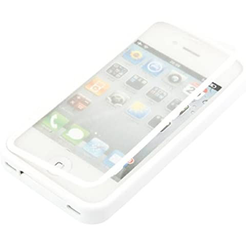 kwmobile Practical cuerpo completo de protección de TPU silicona para el Apple iPhone 4 / 4S en Blanco - protección real completa para su Apple iPhone 4 / 4S