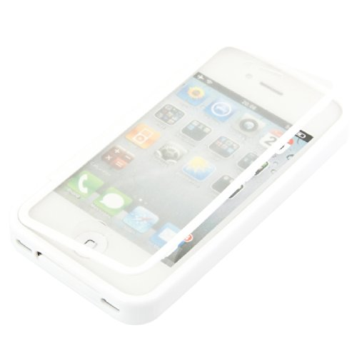 kwmobile TPU Silikon Hülle für Apple iPhone 4 / 4S - Full Body Protector Cover Komplett Schutzhülle Case in Schwarz Transparent .Weiß Transparent