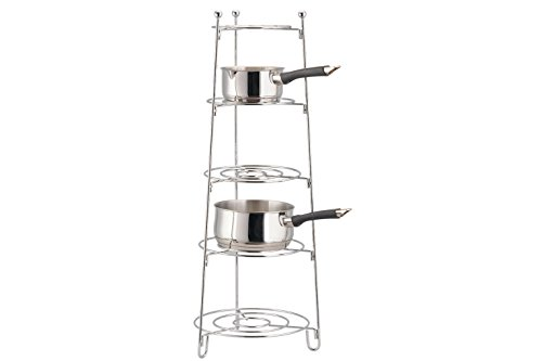 Apollo 28 x 28 x 80 cm 5-Tier Saucepan Stand, Chrome