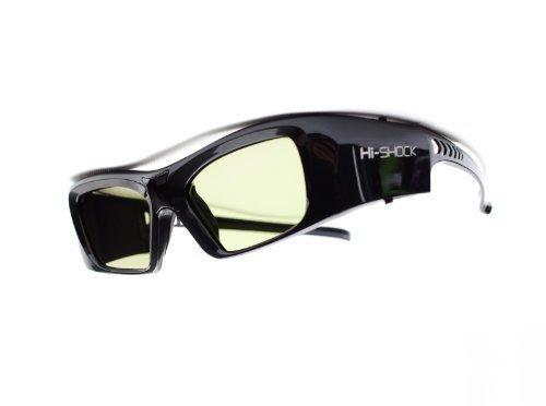 "Hi-SHOCK® RF Pro \""Black Diamond\"" | Gafas 3D-RF para proyectores 3D: SONY®, JVC®, EPSON® | compatibles con SONY VPL-HW65ES, HW45ES, VW300ES, VW320ES, VW520ES, VW500ES, VW1000, TDG-BT500A, AD025-RF-X1 / JVC DLA-X 7000, DLA-X 500R, DLA-RS 400, DLA-X 9000, DLA-X 5000, PK-AG3, PK-EM2 | incluye una extensa gama de accesorios cobertura de garantía de 3 años [Gafas de obturador | 120 Hz | recargables | 39g | FHD3D RF | Negro]"