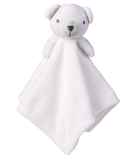 Luxury-uk Baby-ruhige Abwischen Baby Tröster Spielzeug Baumwolle Handtuch Soft Handtuch Plüsch Cute Bear Toy_Beige -