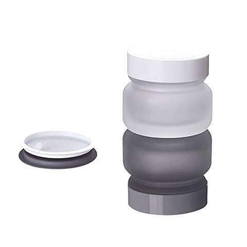 50g 50ml (45) rechargeable vide en verre Masque Crème Pot Bottes portable crèmes cosmétiques Make Up Boîte Pot avec capuchon intérieur blanc et à visser pour lotion à main DIY beauté émulsion marchandises et plus
