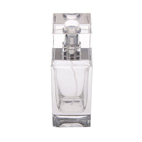 50 Ml Vidrio Transparente Vacía Botellas Atomizador de Perfume Rectá