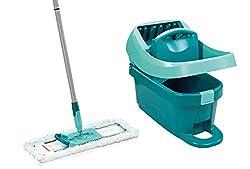 Leifheit Set Wischtuchpresse Profi XL, für Wischen ohne Bücken, Wischer für Ergebnisse wie handgewrungen, Bodenwischer zum Putzen mit sauberen Händen