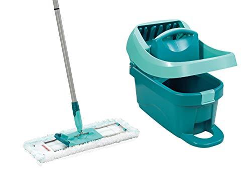 Leifheit Kit Profi XL Essore-housse avec lave-sol, seau et balai essoreur taille XL, kit de lavage...