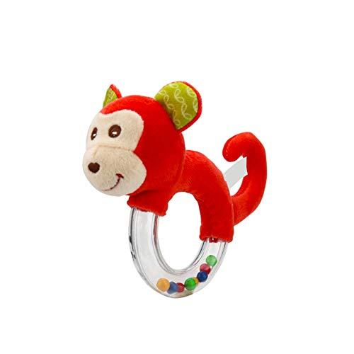 �sch Stofftier AFFE Shaker Toy Ring Rattle mit Clear Ring für Baby-pädagogisches Spielzeug ()