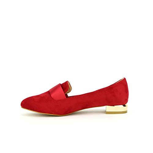 Simili Perla Joli Coco Chaussures Femme Peau Rouge Mocassins 7YwndZ
