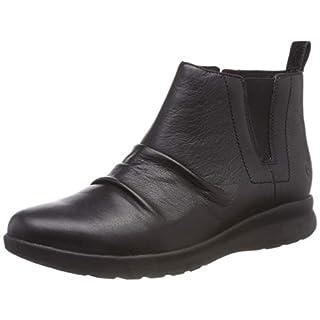 Clarks Women's Un Adorn Mid Slouch Boots, (Black Leather), 7 UK