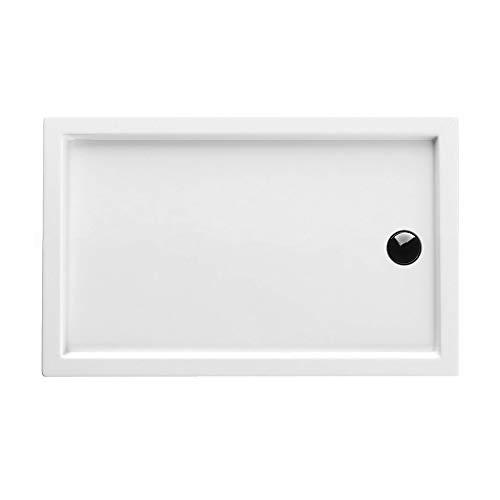 Duschwanne AQUABAD® Comfort Villa Flat 90x160cm Flach Rechteck - Ablauf kurze Seite (90 cm) mittig