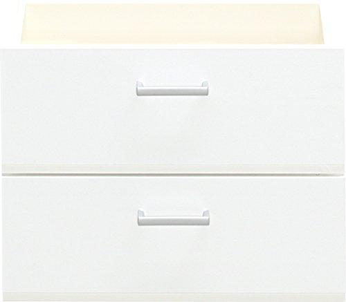 CS Schmalmöbel 12/180 Schubkasten-Set, Holz, weiß, 51 x 32 x 38 cm