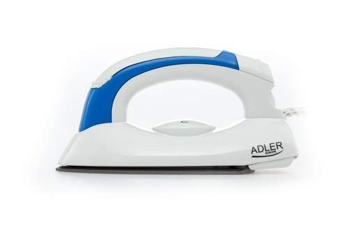 adler AD 5015 Plancha de Viaje, 800 W, 0 Decibeles, Blanco/Azul