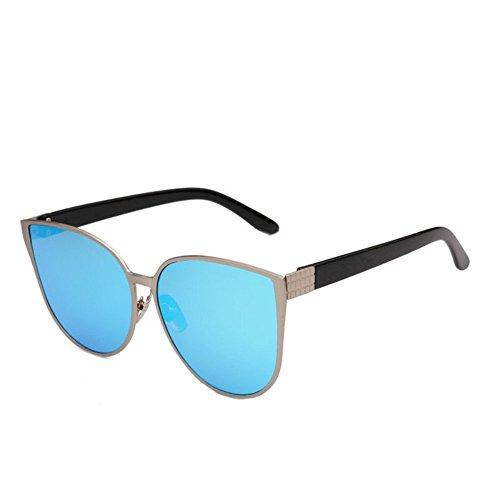 neue designer - sonnenbrille Sonnenbrille für Frauen Cat Eyes Metallrahmen umrandeten Sonnenbrille Classic Oversized Trendy Damen Sonnenbrille für den Antrieb von Sonnenbrillen für Frauen Aviator glänzende rosa