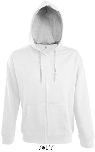 Preisvergleich Produktbild SOLS Contrasted Zipped Hooded Jacket Soul Men 46900 XL, White