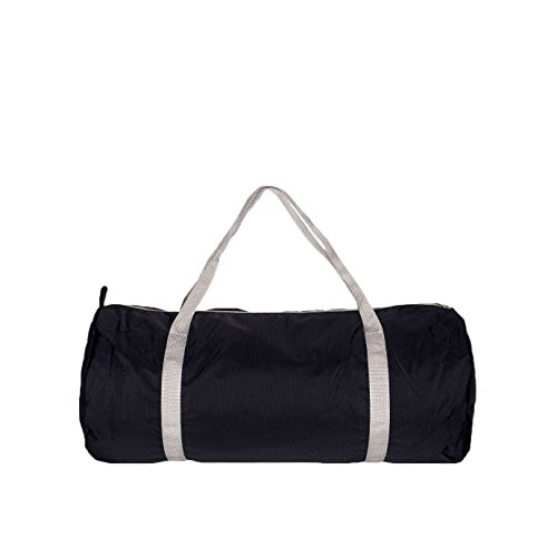american-apparel-nylon-sports-gym-holdall-bag-one-size-black-silver