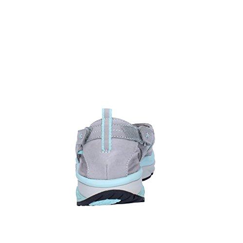 MBT 700348 KISUMU SPORT-THONG grigio pelle sandali infradito donna strappo grigio/celeste