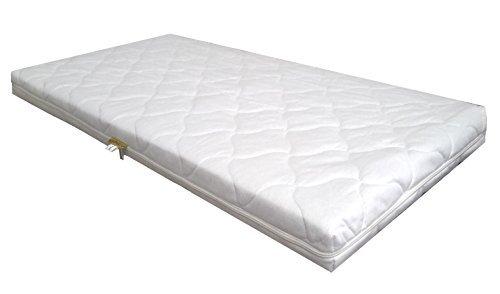 *KiNDERWELT Baby Schaumkernmatratze Comfort gesteppt Babymatratze Matratze 70 x 140 weiß Schaumstoff*