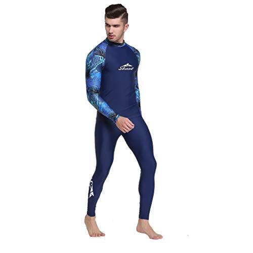 EUCoo_ Wetsuit Neoprenanzug Herren Surfjacke Langarm Basic Uv Schutz Badeanzug Surf Diving Top Surfbekleidung Surf-Taucherjacke (Blau, XXXL)