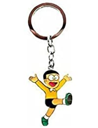 RJMSAS Single Sided Nobita Metal Keychain | Key Ring For Car Bike Home Keys | Key Chain For Kids Men Women Boys...