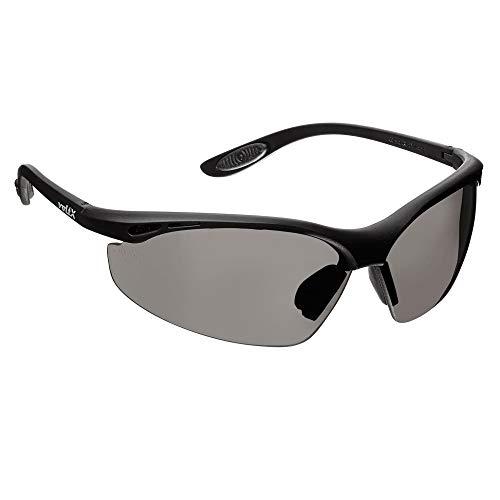 voltX 'Constructor' Wraparound Sicherheitsbrillen/Radsport Sportbrillen (RAUCHGRAUE Keine Vergrößerung) CE EN166F Zertifiziert, Anti-Fog und Anti-Kratzer, Klasse 1 UV-Schutz/Safety Glasses